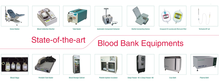 BLOOD BANK EQUIPMENTS